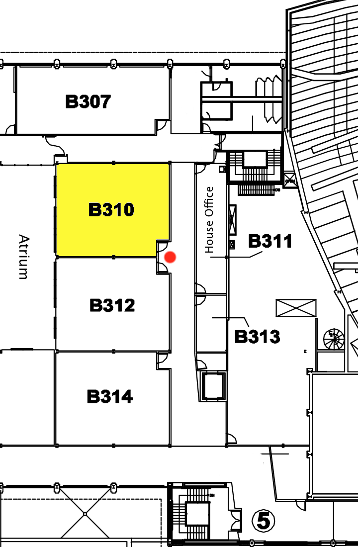 Map showing Room B310